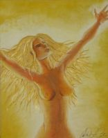 Sunna, Goddess of the Sun by audreydc1983