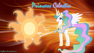 Princess Celestia Ponytail Wallpaper by brightrai