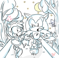 Your still Sonic on the inside :.collab.: by chibiirose