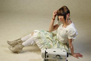 Lolita and Sewing 5 by Kawaii-x-Stock