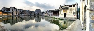 Half Moon Pool Hongcun Anhui Province China by davidmcb