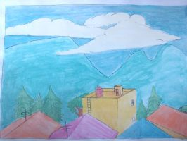 water color Scenery 2 by Xarante