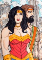 Wonder Woman and Hercules by seanpatrick76