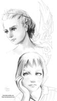 Stylization/line-work practice by FiRez-DA