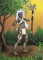 Tribal Sorceress by SkyJaguar