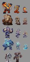 Elementals sheet by Rayph