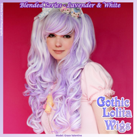 Blended Wig - Lavender+ White by GothicLolitaWigs