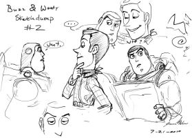 Buzz and Woody sketch dump 02 by JereduLevenin