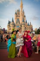 Surrounded by Stepsisters by nessabutterfly
