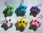 Kawaii Crochet Star Keychains -PATTERN AVAILABLE- by black-moon-flower