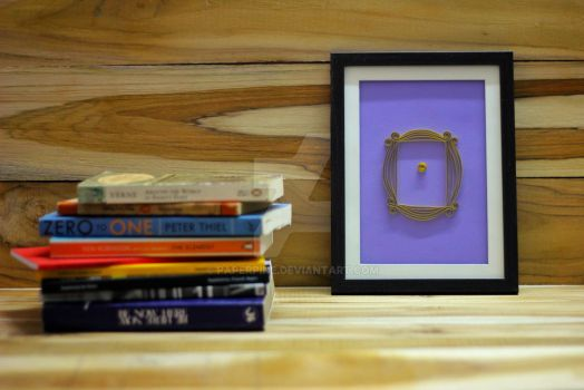 F.R.I.E.N.D.S peephole frame by paperpine