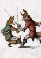 Fencing Foxes by Zethelius