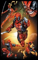 Deadpool corps by RossHughes