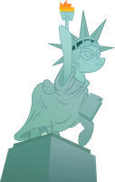 Pony Statue of Liberty by SirCxyrtyx