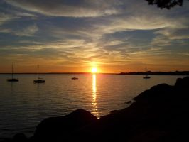 Sunset on Concarneau by YunaHeileen
