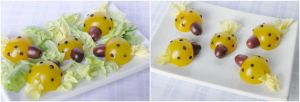 Yellow Tomato Ladybugs by Kitteh-Pawz