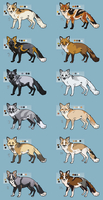 Foxes 2 (closed) by Pred-Adopts