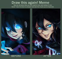 Before And After Halloween!! by doblemjwn