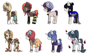 My new ponies- Now with Names! by KurosuAi