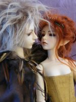 Close up of Fae dolls by alexandradawe