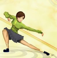 Chie Satonaka, again. by kkyz13