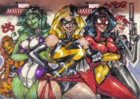 MM2 artist proof MARVEL WOMENS by jasinmartin