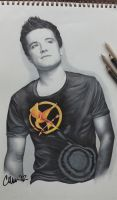 Josh Hutcherson Drawing by Live4ArtInLA