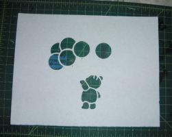 Bear with Balloons by Stencil-Borg