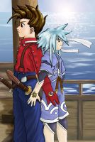 Lloyd and Genis by bladesfire