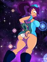 Futurama: Stewardess Turanga Leela by grimphantom