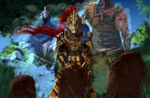 Dark Souls fanart - ornstein you are not alone! by SerValt