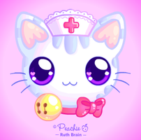 Nurse Kitty Softie by Princess-Peachie
