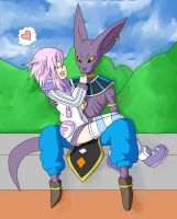 Neptune and Beerus: Power of Pudding by Skye-Izumi