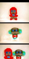 Wheeljack and Ironhide Plushes by The-Starhorse
