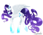 Alicorn Rarity by linamomoko
