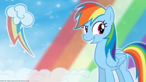 Loyalty is Magic - Rainbow Dash Wallpaper by SuperT124