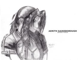 Final Fantasy VII - Aerith Gainsborough by aiRoy17