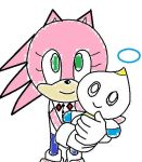 Hugging my cute chao. by Crystalthehedgeho100