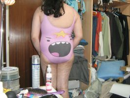 Lumpy Space Princess shout swimsuit back by aet256