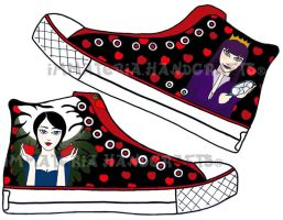 Layout 4 sneakers: Snow White by nicneven