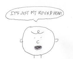 Charlie Brown - It's just my round head by dth1971