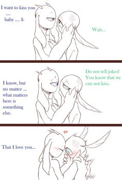We can not kiss ...but... by 0Lau-Chan0
