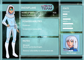 Dream Team App: Snowflake by GlassSeraph