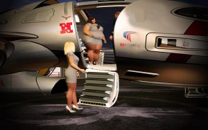 The Fat Stewardess by samster2