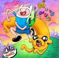 Finn and Jake looking for some adventure by ismaComics