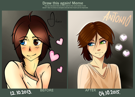 Draw this again! Meme : Antonio by KieCookie
