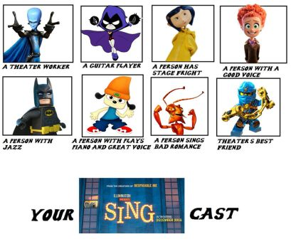 My Sing Cast by Dimensions101