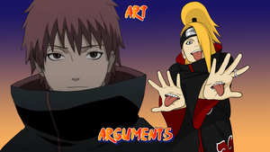 Art Arguments Wallpaper by CartoonMad97