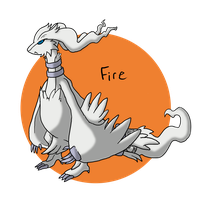Pokeddex Day 10 - Reshiram by Kame-Ghost