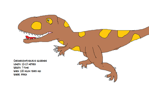 Carcharodontosaurus iguidensis Fact File by koopalings98